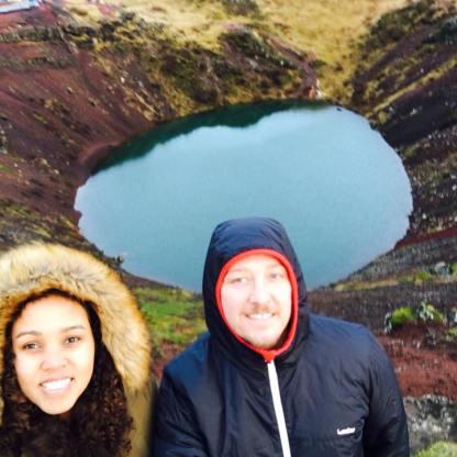 Cratera vulcânica - Volcanic crater
