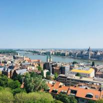 Danube river view from the Fisherman's Bastion - Budapest