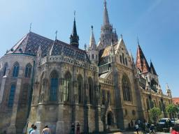 Back side of the Mathias church - Budapest