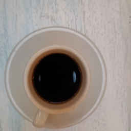 Black Colombian coffee