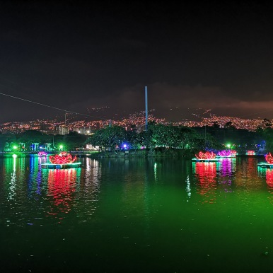 Christmas Lights Display - Parque Norte, Medellin, Colombia