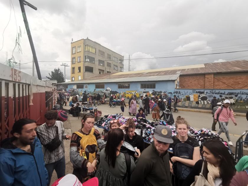 People at El Alto flea market