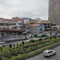 Wonderful La Paz sign in an avenue at La Paz city centre